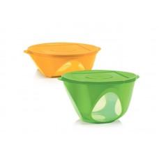 Набор чаш Tupperware Аркадия 2,5л / 4,3л, зелёная и оранжевая